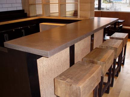 Concrete Bar Top at Locali Pizza