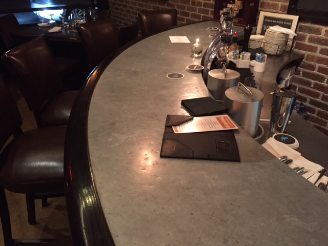 Aged Zinc Bar Top in Mt. Kisco, NY