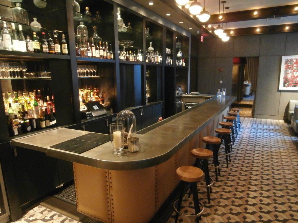 Zinc Bar Top at Soho Sixty's Gordon Bar