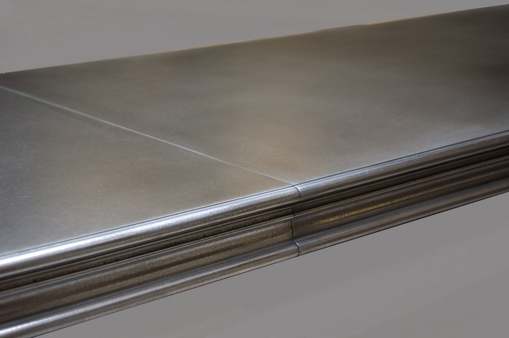 H Edge Profile on Artisan Cast Zinc Bar