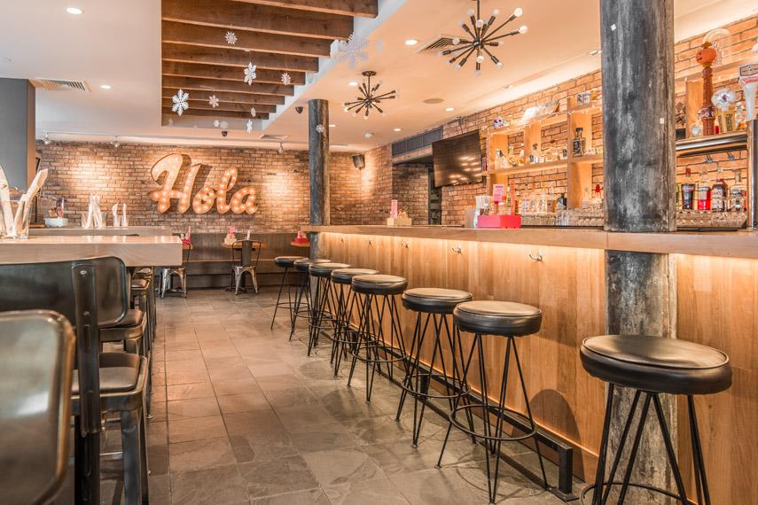 Calexico NYC Edge Grain Maple Bar Top