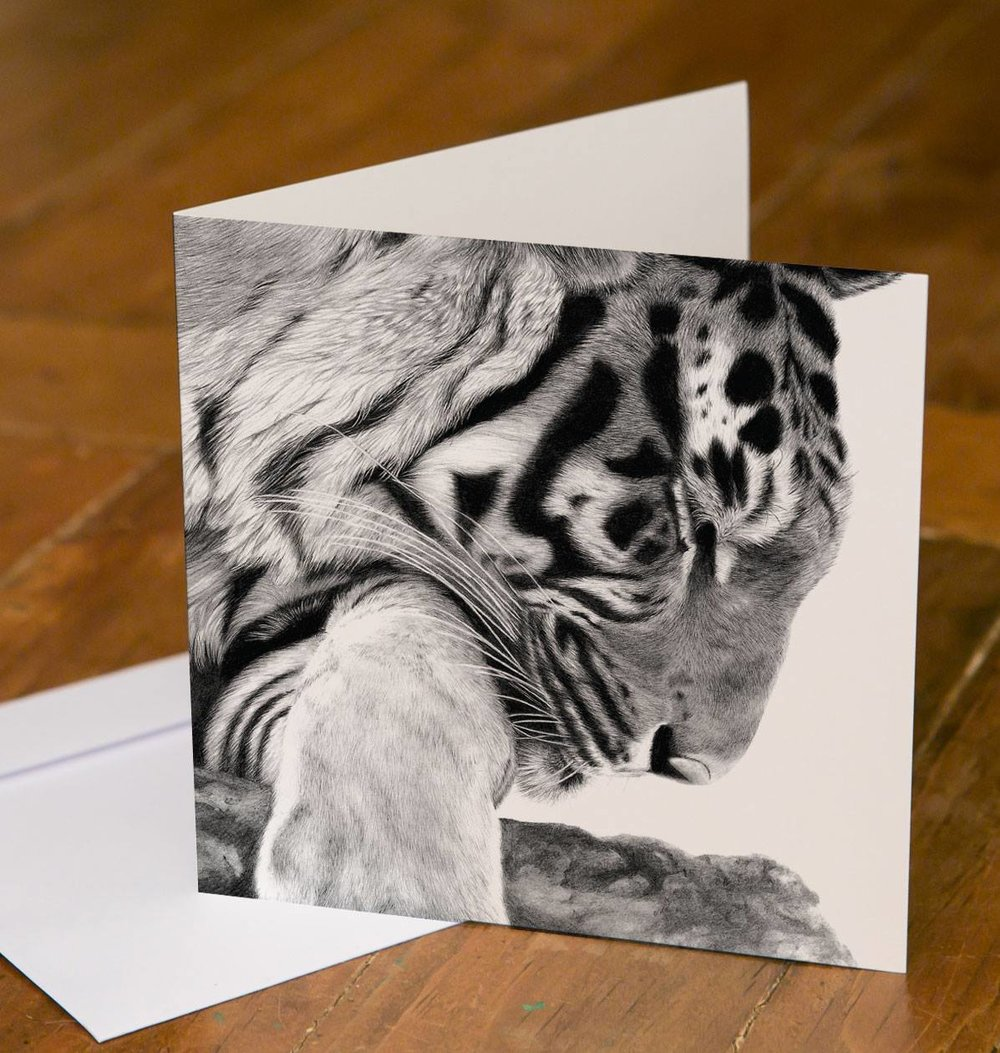 Tiger Greetings Card - available soon to buy on this site