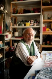 The architect and artist, Gaetano Pesce photographed by Adam Golfer for the Wall Street Journal