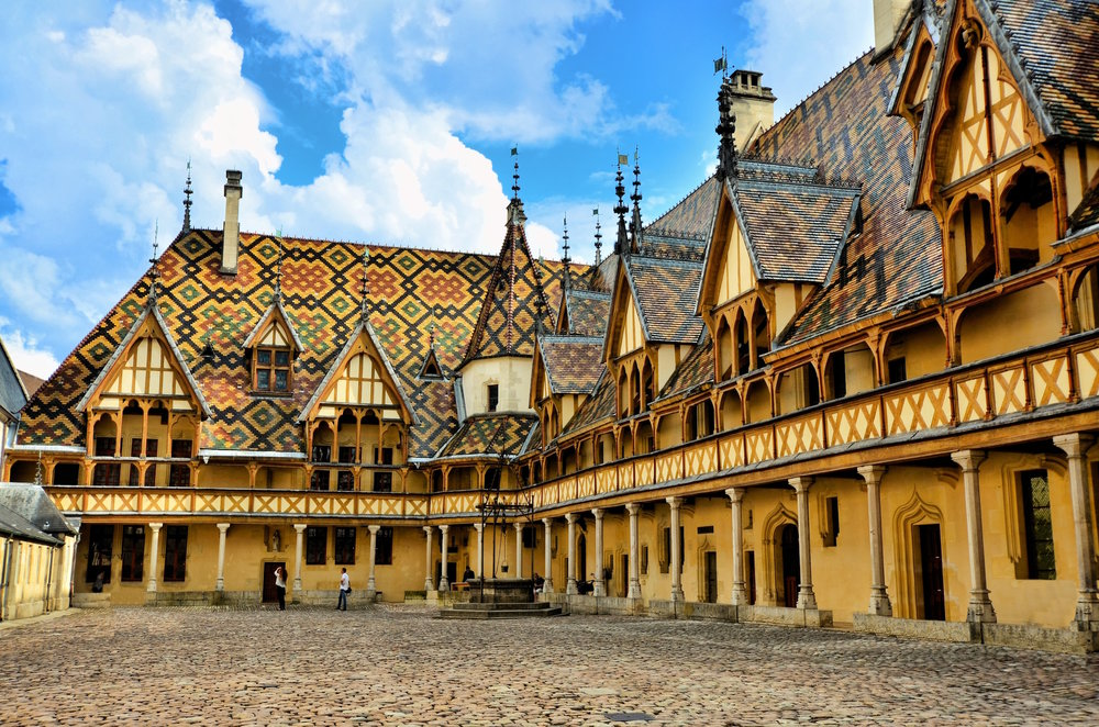 Courtyard at Les Hospice De Beaune.