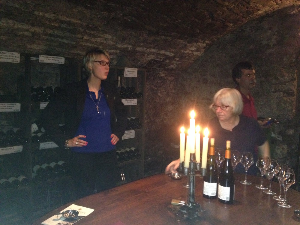 Pernille, Sommelier at Cave Patriarche in Beaune.