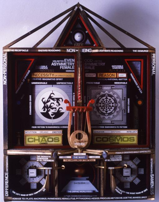 Paul  Laffoley, (1935-2015) © ARS, NY    Chaos Cosmos,  1985    Photo Credit:   Photo courtesy of Paul Laffoley / Art Resource, NY    Image Reference:   ART525949