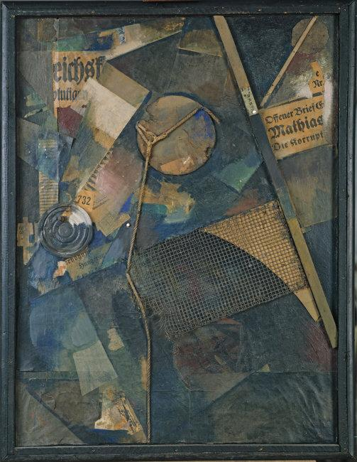 Kurt  Schwitters, (1887-1948) © ARS, NY   Merz Picture 25A. The Star Picture [Merzbild 25A. Das Sternenbild]. 1920. Oil and collage on canvs, 104,5 x 79 cm. Inv. 0141. Photo: Walter Klein.    Location:   Kunstsammlung Nordrhein-Westfalen, Duesseldorf, Germany    Photo Credit:   bpk Bildagentur / Art Resource, NY    Image Reference:   ART507856