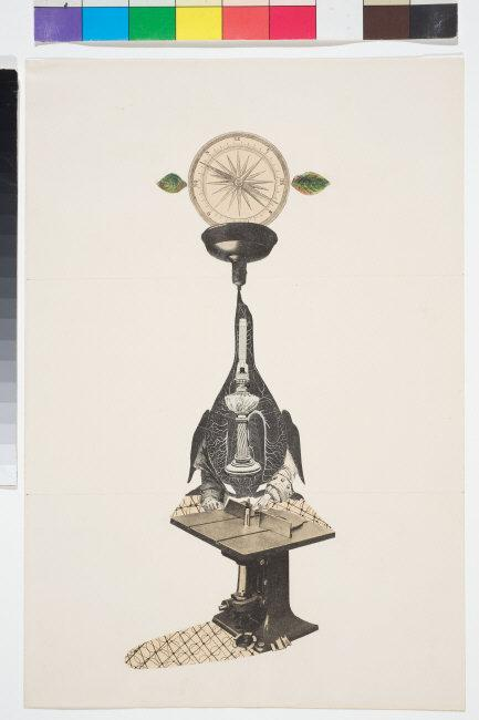 Andre  Breton, (1896-1966) © ARS, NY    Cadavre exquis,  1938. Caryon, graphite, collage, photomechanical reproduction, 43 x 32 cm. INV 90.2.1. Photo: Christian Kempf.    Location:   Musee d'Unterlinden, Colmar, France    Photo Credit:   © RMN-Grand Palais / Art Resource, NY    Image Reference:   ART525638