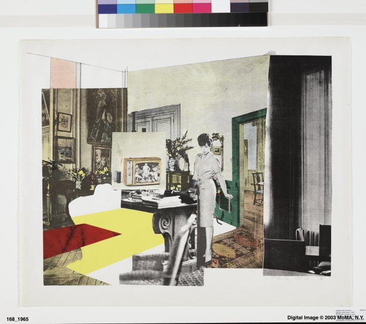 "Richard  Hamilton, (1922-2011) © ARS, NY    Interior, 1964. Screenprint, sheet: 22 1/4 x 27 7/16"". Publisher: Editions Alecto, London. Printer: Kelpra Studio, London. Edition: 4. Dorothy Braude Edinburg Fund, 1965. (168.1965)    Location:   The Museum of Modern Art, New York, NY, U.S.A.    Photo Credit:   Digital Image © The Museum of Modern Art/Licensed by SCALA / Art Resource, NY    Image Reference:   ART190010"