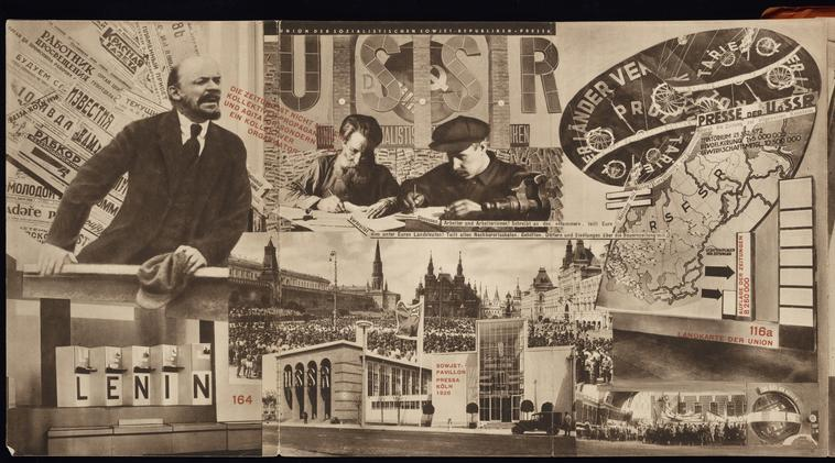 El (Eleazar) Lissitzky, (1890-1941) © ARS, NY   USSR. Catalogue of the Soviet pavilion at the International Press Exhibition, Cologne, 1928. From a private collection.     Photo Credit:  HIP / Art Resource, NY     Image Reference:  AR924967