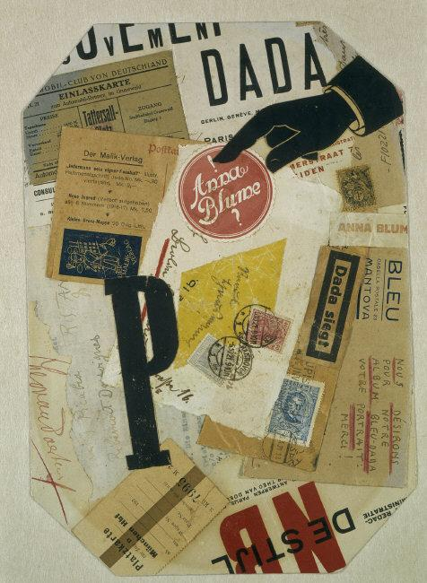 "Raoul  Hausmann, (1886-1971) © ARS, NY   ""P"". 1921. Collage. Inv. 1473-2. Photo: Elke Walford.    Location:   Hamburger Kunsthalle, Hamburg, Germany    Photo Credit:   bpk Bildagentur / (name of museum) /(name of photographer) / Art Resource, NY    Image Reference:   ART188366"