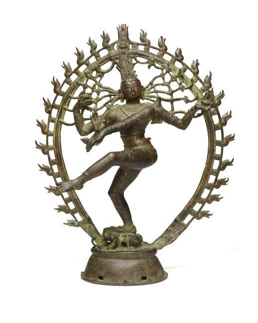 Shiva as Lord of the Dance (Shiva Nataraja). Chola period, about 970. India, Tamil Nadu. Copper alloy. H. 26¾ x W. 21½ x D. 10 in. (67.9 x 54.6 x 25.4 cm). Asia Society, New York: Mr. and Mrs. John D. Rockefeller 3rd Collection, 1979.20. Photography by Synthescape, courtesy of Asia Society    Location:   Asia Society Museum    Photo Credit:   Asia Society / Art Resource, NY    Image Reference:   ART526066