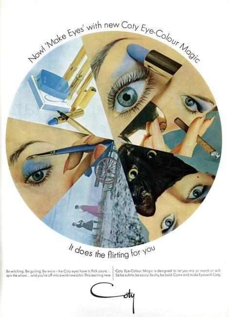 Coty cosmetics advert, 1960s. From Vogue, June 1966. Rights information: Cleared for Editorial Use Only. Please Contact Us For Any Other Clearance Rights    Photo Credit:   HIP / Art Resource, NY    Image Reference:   AR998704