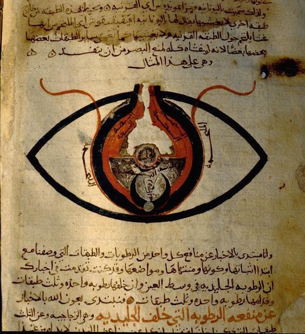 Anatomy of the eye from the islamic medical manuscript of al-Mutadibi. Country of Origin: Egypt. Culture: Islamic. Date/Period: 1170 - 1199 AD. Credit Line: Werner Forman Archive/ National Library, Cairo Location: 02    Photo Credit:   HIP / Art Resource, NY    Image Reference:   AR9143323