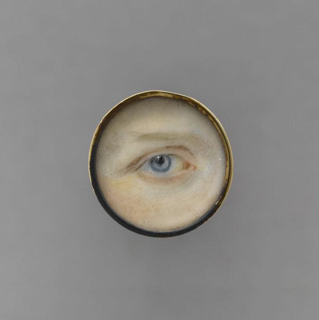 Anonymous, 19th century    Eye of Henry of Orleans, duke of Aumale  (1822-1897). Miniature. Watercolor, gouache on ivory, diameter: 0.018 m. OA1724. Photo: R.G. Ojeda.    Location:   Musée Condé, Chantilly, France    Photo Credit:   © RMN-Grand Palais / Art Resource, NY    Image Reference:   ART421341
