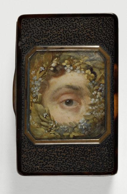 Anonymous    Eye Looking at Viewer.  MIniature painting on tobaco box. French school. Painting on paper. RF35926-recto. Photo: Martine Beck-Coppola.    Location:   Musée du Louvre, Paris, France    Photo Credit:   © Musée du Louvre, Dist. RMN-Grand Palais / (name of photographer) / Art Resource, NY    Image Reference:   ART484368