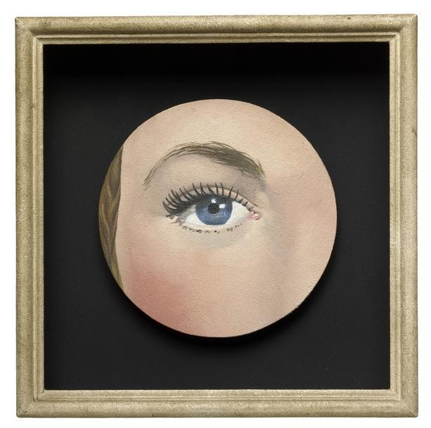 René   Magritte, (1898-1967) © ARS, NY    The Eye , 1932/35. Oil on canvas, 10 1/2 x 10 x 2 1/2 in. (27 x 24.8 x 14.4 cm). Through prior gift of Arthur Keating, 1989.53.    Location:   The Art Institute of Chicago, Chicago, U.S.A.    Photo Credit:   The Art Institute of Chicago / Art Resource, NY    Image Reference:   ART527231