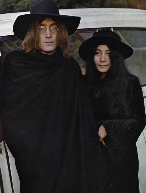 John Lennon and Yoko Ono, 1969. The couple were married in Gibraltar on 20th March 1969. Rights information: Cleared for Editorial Use Only. Please Contact Us For Any Other Clearance Rights    Photo Credit:   HIP / Art Resource, NY    Image Reference:   AR999422