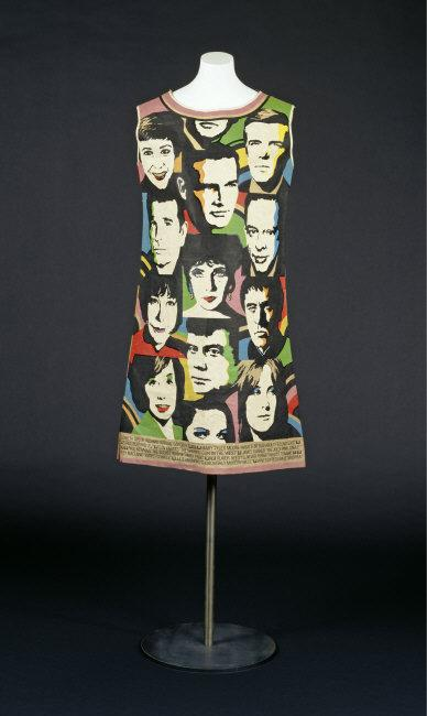 Mini skirt, with motives after Andy Warhol (Portraits). United States, ca. 1968. Printed paper. Inv. 2003,KR 595. Photo: Saturia Linke.    Location:   Kunstgewerbemuseum, Staatliche Kunstsammlungen, Dresden, Germany    Photo Credit:   bpk Bildagentur /  Art Resource, NY    Image Reference:   ART500019