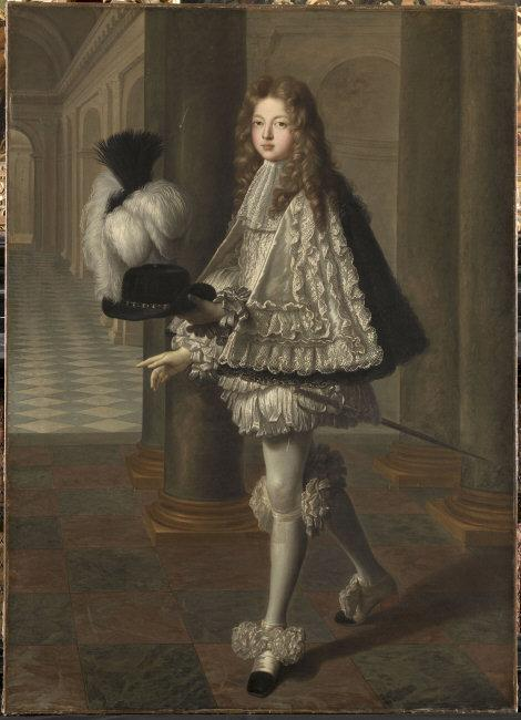 Louis de   Boulogne, (1654-1733)   (attributed to): The Comte de Toulouse wearing a novices habit of the Order of the Holy Spirit (Ordre du Saint-Esprit). 1693. Louis-Alexandre de Bourbon (1678-1737). Oil on canvas, 177 x 127 cm. PE348. Photo: René-Gabriel Ojéda.    Location:   Musée Condé, Chantilly, France    Photo Credit:   © RMN-Grand Palais / Art Resource, NY    Image Reference:   ART528884