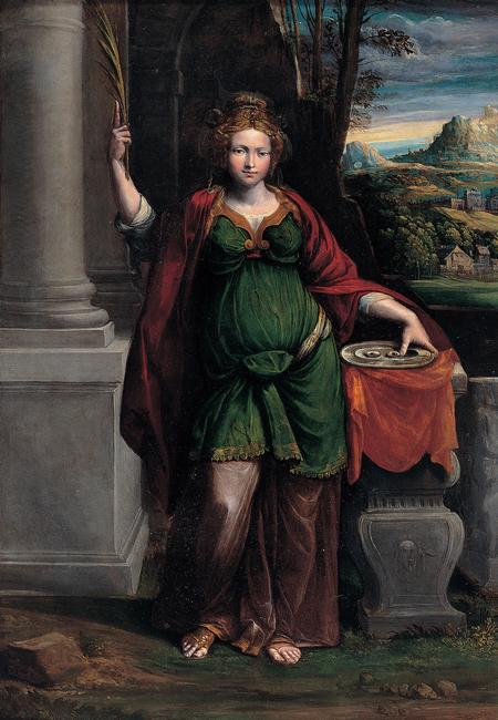 Garofalo (Benvenuto Tisi da Garofalo) (1481–1559)    Saint Lucy,  1535-1540. Found in the collection of the Musei Capitolini, Rome.    Photo Credit:   HIP / Art Resource, NY    Image Reference:   AR923438