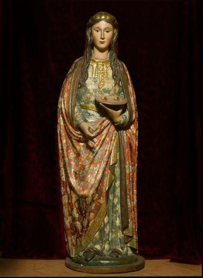 Sculpture of Saint Lucy. Renaissance     Location:  Museo Municipal-Palace Najera, Antequera, Malaga, Spain.    Photo Credit:   Album / Art Resource, NY    Image Reference:   orz128315