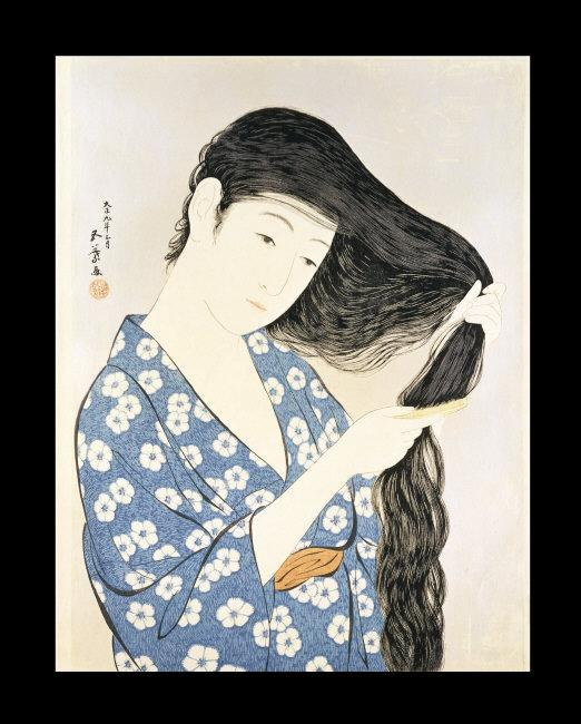 Hashiguchi   Goyo, (1880-1921)   Kamisuki (Combing the hair). Japan, Taishô era, 1920. Color woodblock print, 44.8 x 34.8 cm.    Location:   British Museum, London, Great Britain    Photo Credit:   © The Trustees of the British Museum / Art Resource, NY    Image Reference:   ART319135