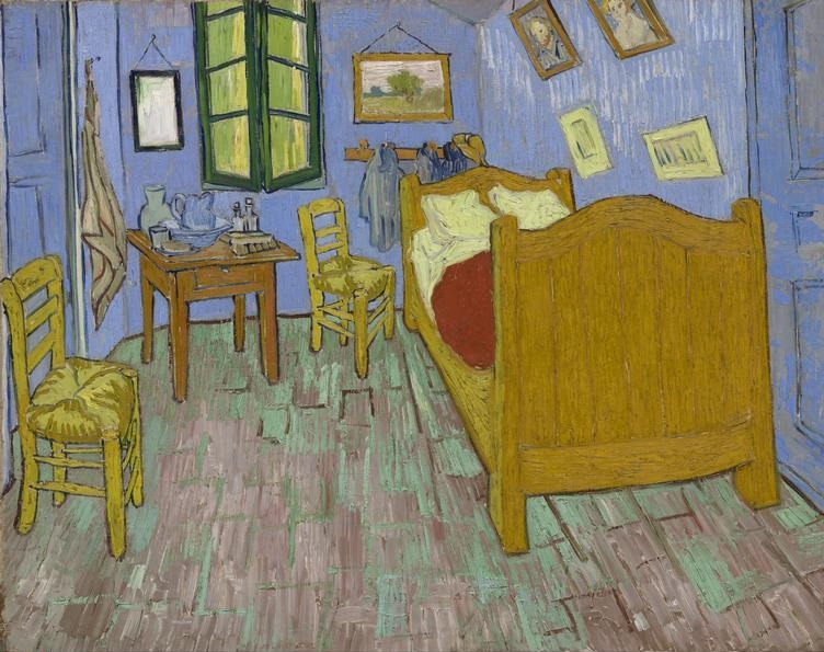 Vincent van  Gogh,  (1853-1890)   The Bedroom, 1889. Oil on canvas, 73.6 x 92.3 cm (29 x 36 5/8 in.). Helen Birch Bartlett Memorial Collection, 1926.417.    Location:    The Art Institute of Chicago, Chicago, U.S.A.    Photo Credit:    The Art Institute of Chicago / Art Resource, NY    Image Reference:    ART527235