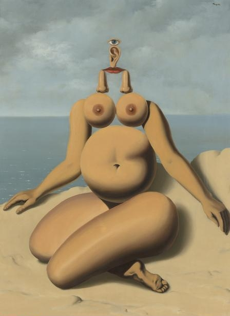 René  Magritte,  (1898-1967) © ARS, NY   The White Race, 1937. Oil on canvas, 81 x 60 cm (31 7/8 x 23 5/8. in.). Gift of The Leonard and Ruth Horwich Family Foundation, 2016.84.    Location:   The Art Institute of Chicago, Chicago, U.S.A.    Photo Credit:   The Art Institute of Chicago / Art Resource, NY    Image Reference:   ART527473