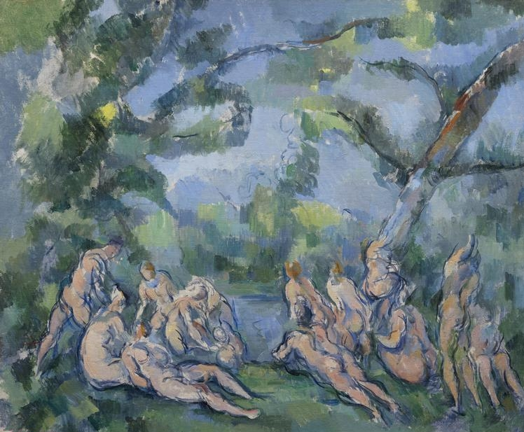 Paul   Cezanne, (1839-1906)   The Bathers, 1899/1904. Oil on canvas, 20 3/16 x 24 1/4 in. (51.3 x 61.7 cm). Amy McCormick Memorial Collection, 1942.457.    Location:   The Art Institute of Chicago, Chicago, U.S.A.    Photo Credit:   The Art Institute of Chicago / Art Resource, NY    Image Reference:   ART527000