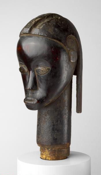 Reliquary Head . Fang people, Gabon, Mid-/late 19th century. Wood and copper, H. 39.4 cm (15 1/2 in.). Frederick W. Renshaw Acquisition Fund; Robert Allerton and Ada Turnbull Hertle endowments; Robert Allerton Income Fund; Gladys N. Anderson Endowment, 2006.127.    Location:   The Art Institute of Chicago, Chicago, U.S.A.    Photo Credit:   The Art Institute of Chicago / Art Resource, NY    Image Reference:   ART528334
