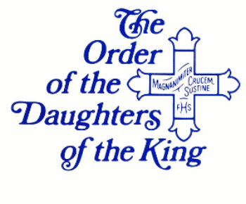 (The Daughters of the King and the logo are registered trademark of The Daughters of the King.)