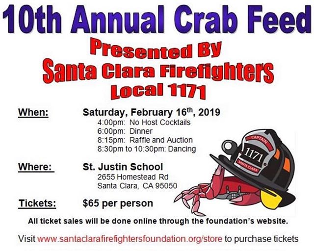 Crab Feed is next weekend!  Link to tickets in our bio!