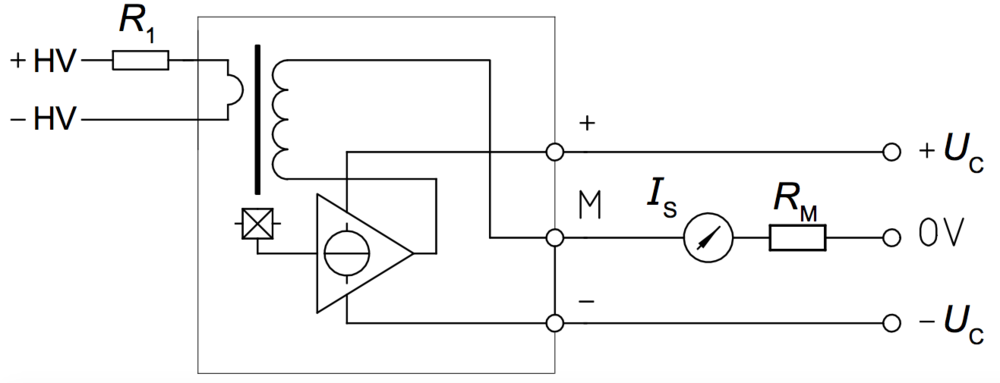 Internal circuit diagram of the voltage sensor