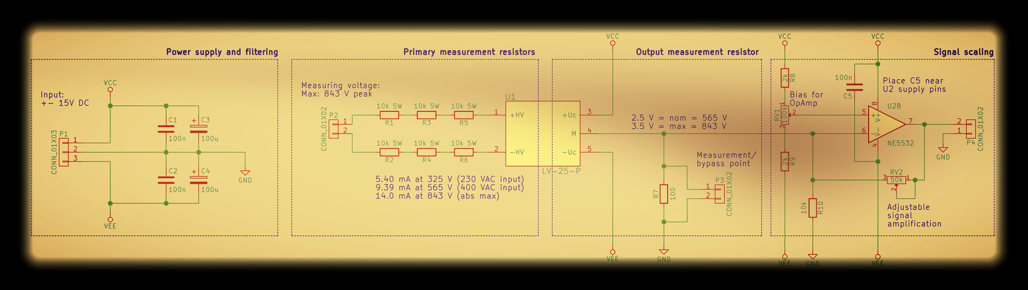 Step By Design Of A Voltage Sensing Pcb Switchcraft Solving Op Amp Circuit