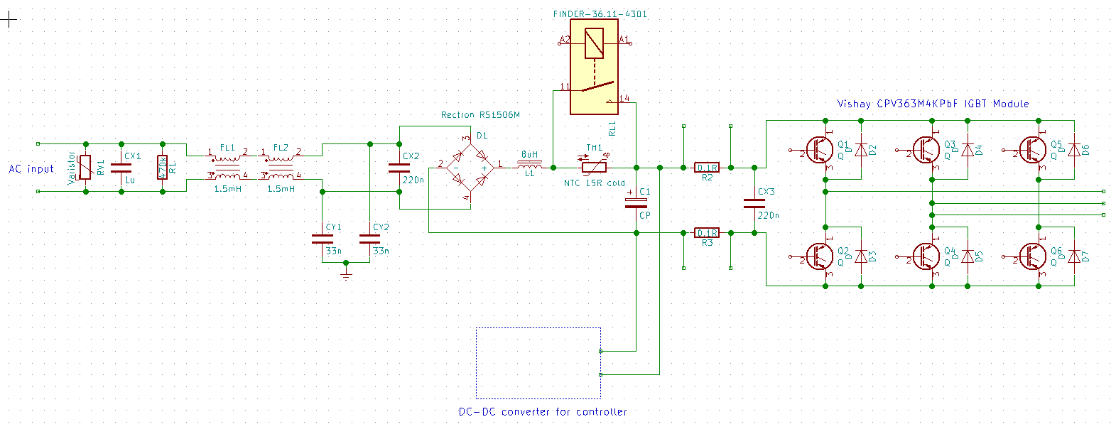 Teardown Of A Commercial Motor Drive Switchcraft Capacitor Input Filter Circuit