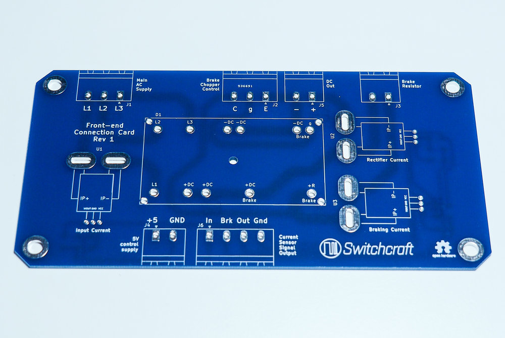 Rectifier module interface PCB - front side