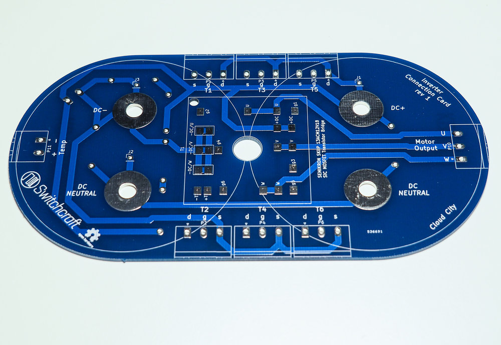 Inverter module interface PCB - front