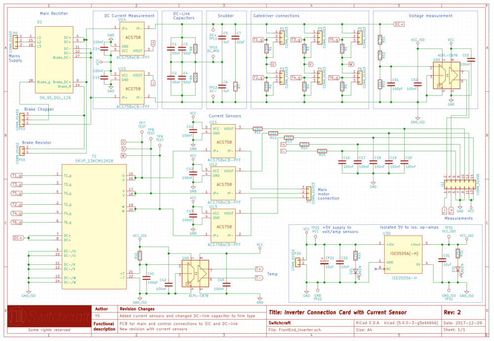 The circuit schematic for the whole board. Use to blue comments on the drawing to get an idea about what's what.