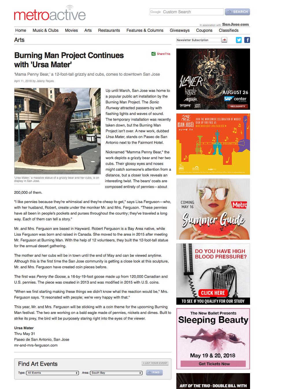 http://www.metroactive.com/arts/Ursa-Mater-Public-Art-Installation-San-Jose.html