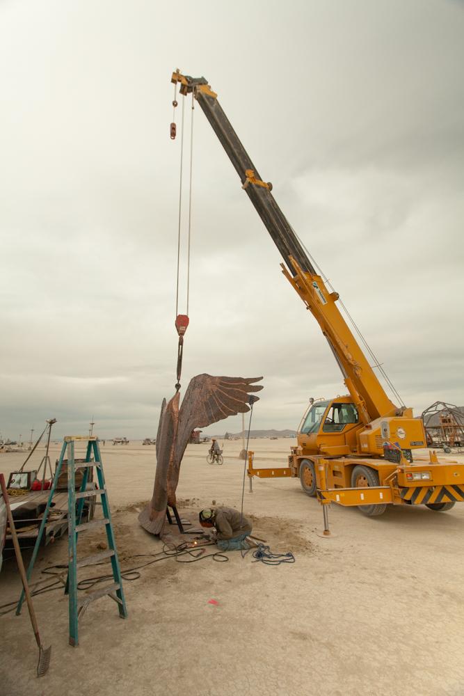 Crane into Place