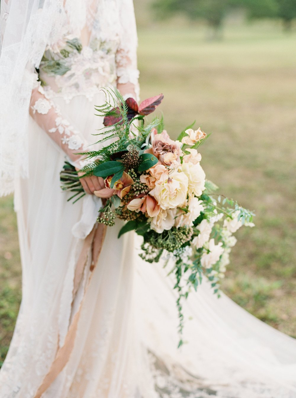 Wedding Bouquet with ribbons