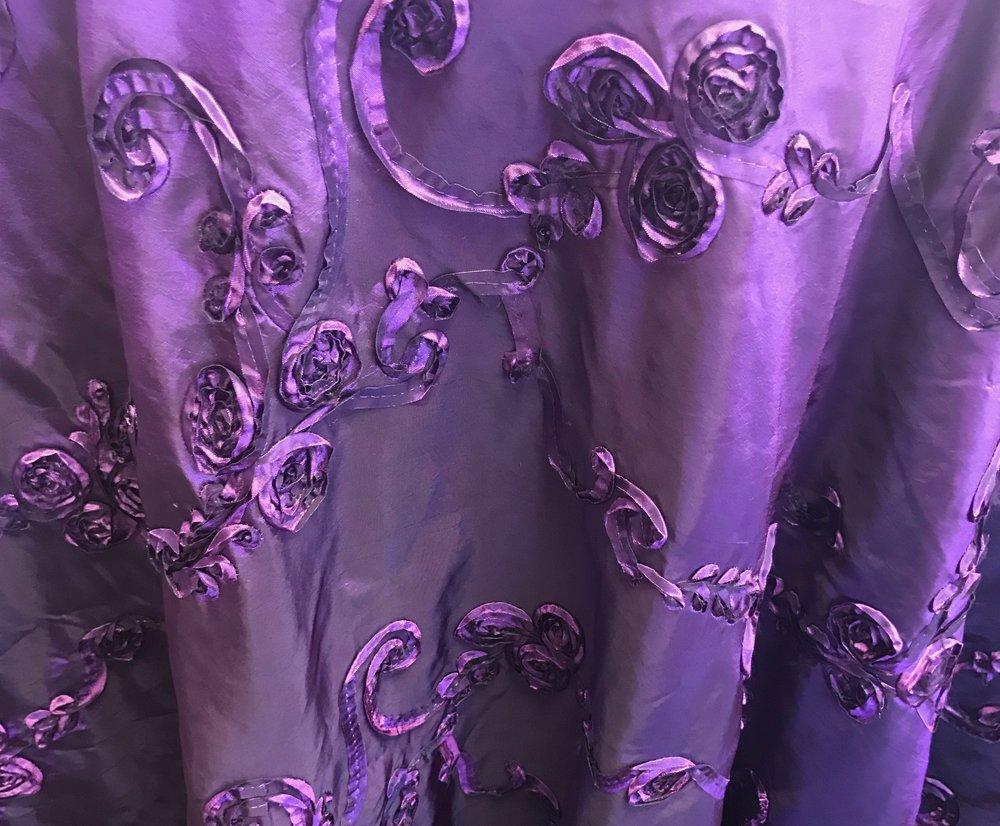 Purple Rosette Tafeta
