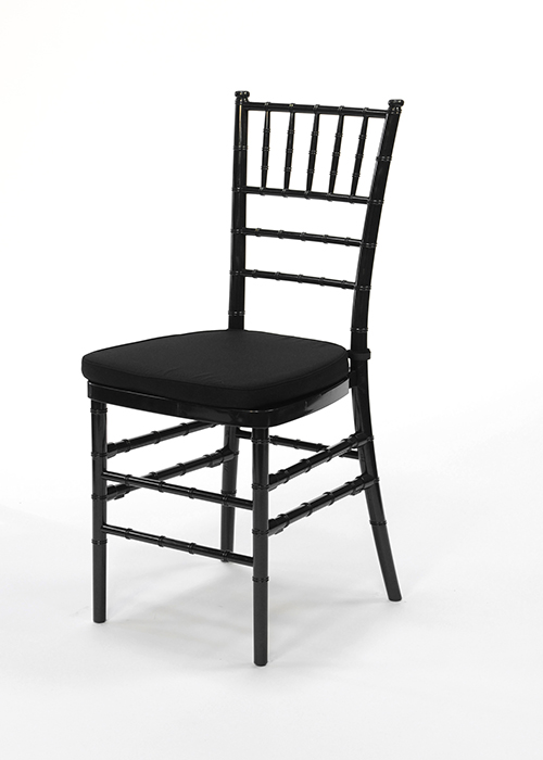 Black Chiavari With Black Cushion