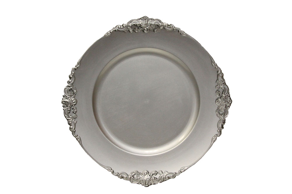 """13"""" Vintage Silver Charger"""