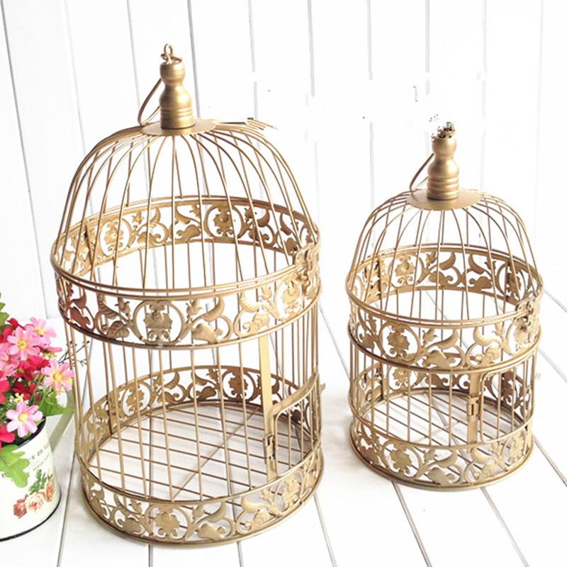 """Gold Vintage Bird Cage - 13"""", 16"""""""