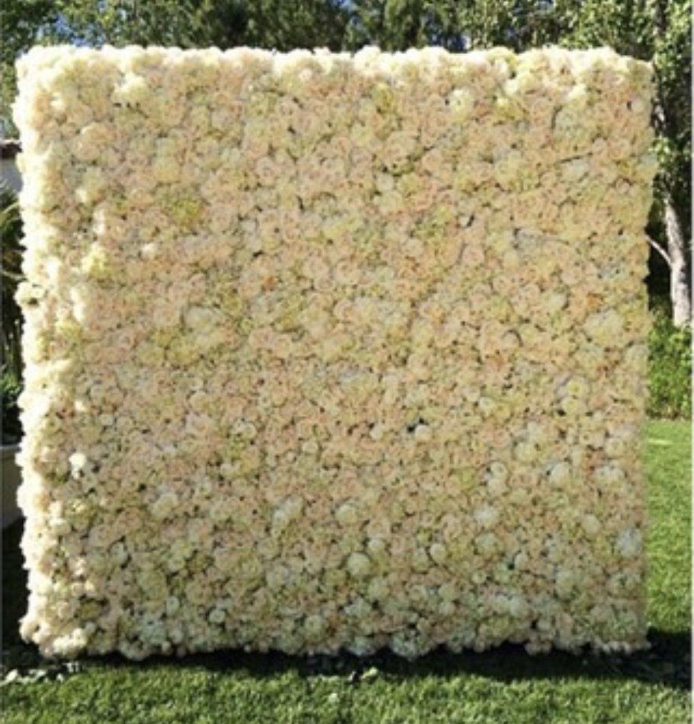 Silk Flower Wall