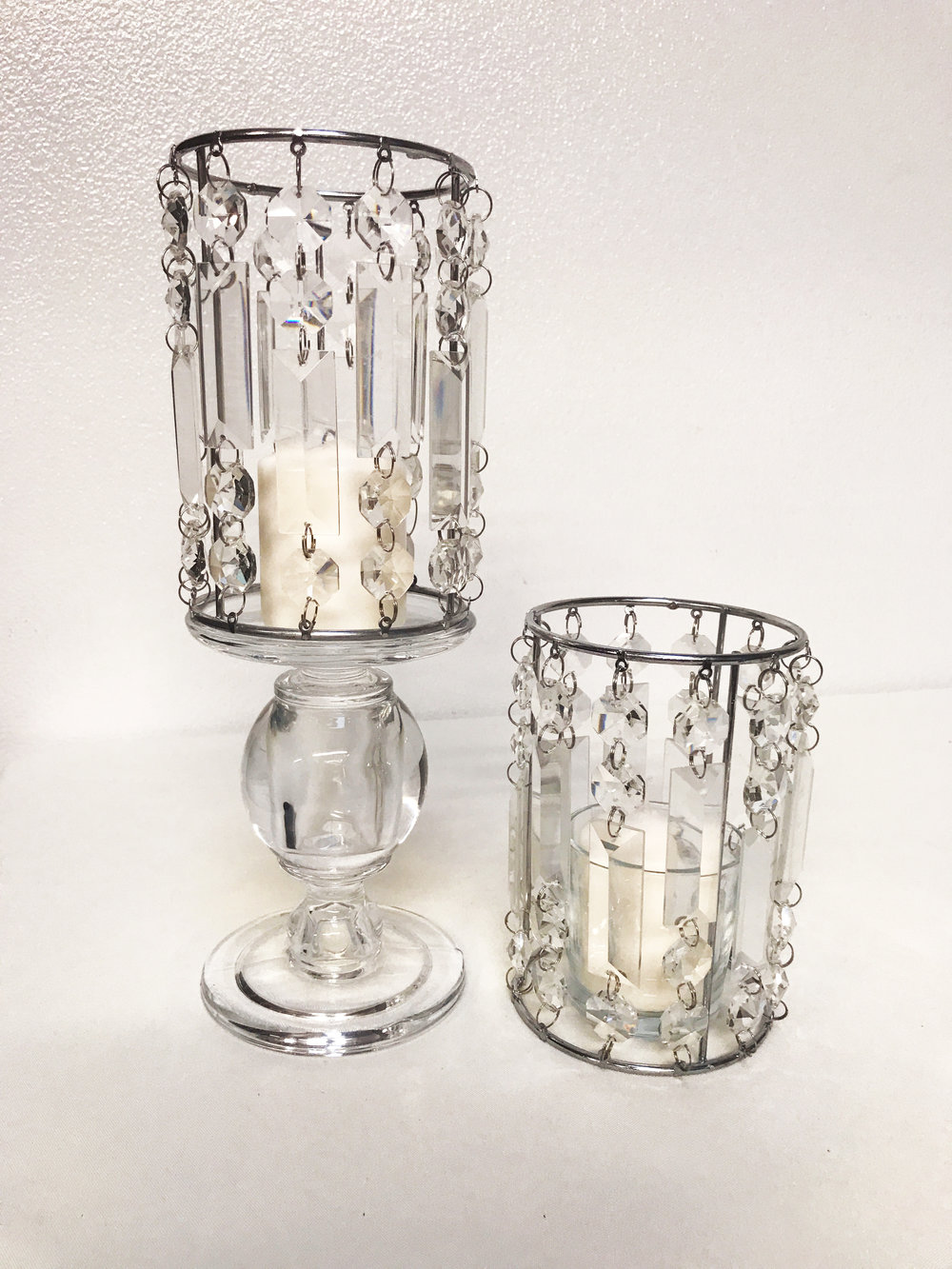 Glass Crystal Candle Stand
