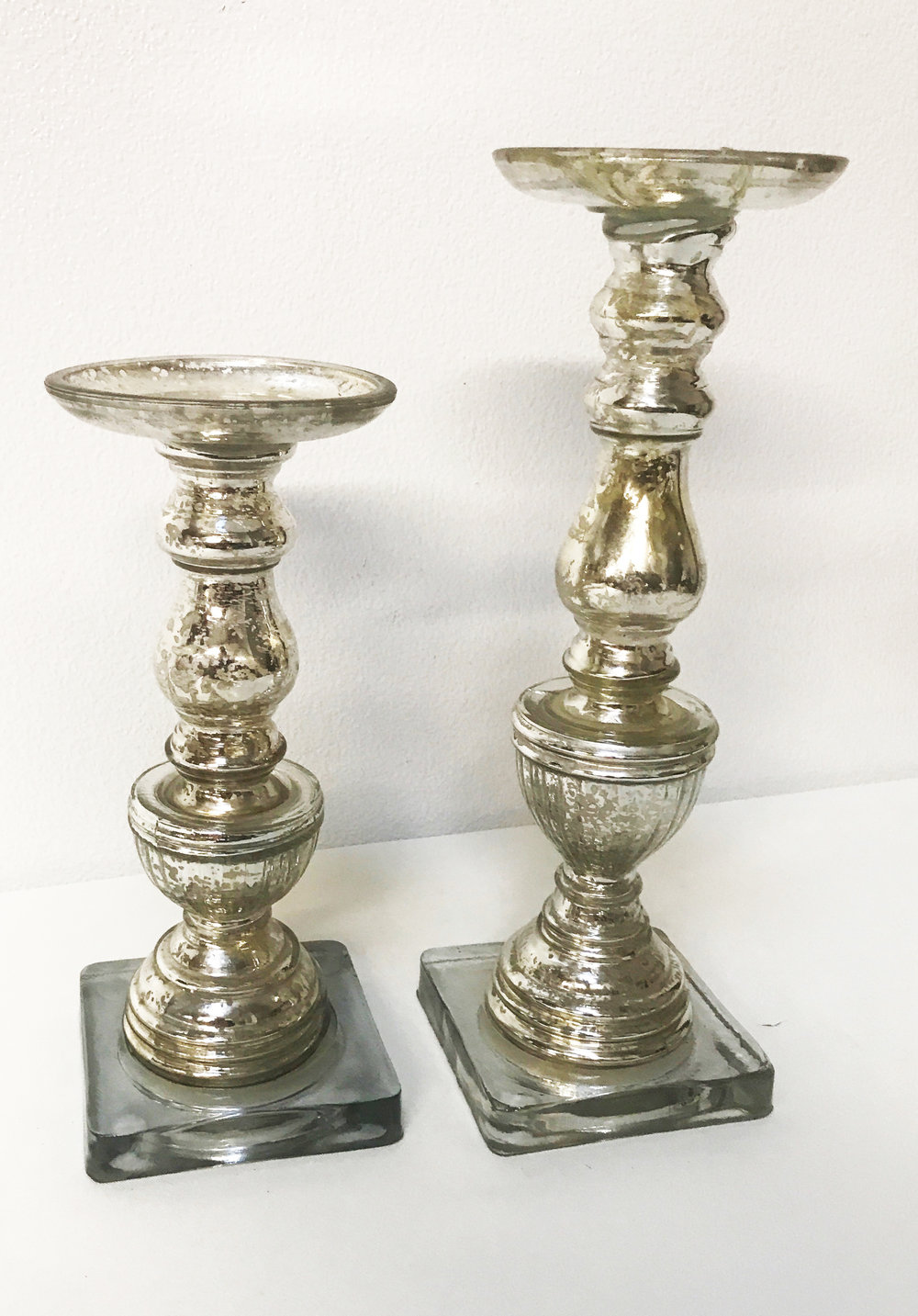 Silver Mercury Candle Stand