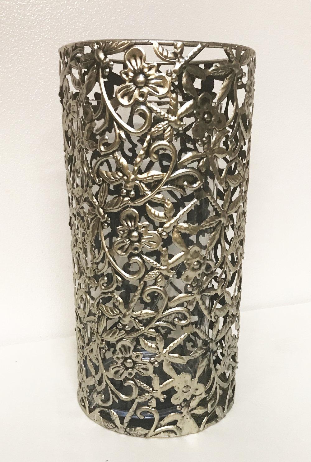 Silver Vintage Candle Holder